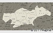 Shaded Relief Map of Passore, darken