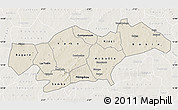 Shaded Relief Map of Passore, lighten