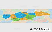Political Panoramic Map of Passore, lighten