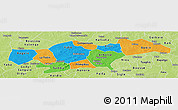 Political Panoramic Map of Passore, physical outside