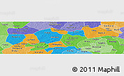 Political Panoramic Map of Passore, political shades outside