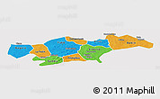 Political Panoramic Map of Passore, single color outside
