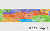 Political Shades Panoramic Map of Passore