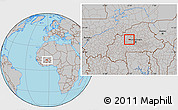 Gray Location Map of Samba