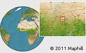 Satellite Location Map of Samba, highlighted parent region