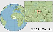 Savanna Style Location Map of Samba