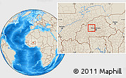 Shaded Relief Location Map of Samba