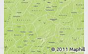 Physical Map of Yako
