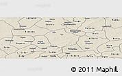 Shaded Relief Panoramic Map of Yako