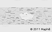 Silver Style Panoramic Map of Yako