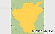 Savanna Style Simple Map of Gaoua