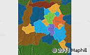 Political Map of Poni, darken