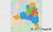 Political Map of Poni, lighten