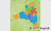 Political Map of Poni, physical outside