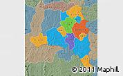 Political Map of Poni, semi-desaturated