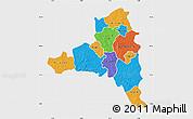 Political Map of Poni, single color outside