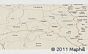 Shaded Relief Panoramic Map of Poni