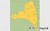 Savanna Style Simple Map of Poni