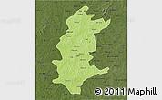 Physical 3D Map of Sanguie, darken