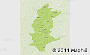 Physical 3D Map of Sanguie, lighten