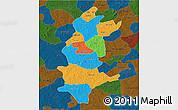 Political 3D Map of Sanguie, darken