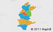 Political 3D Map of Sanguie, single color outside