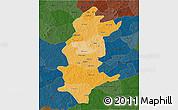 Political Shades 3D Map of Sanguie, darken