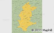 Savanna Style 3D Map of Sanguie