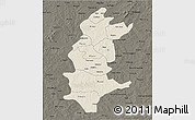 Shaded Relief 3D Map of Sanguie, darken
