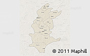 Shaded Relief 3D Map of Sanguie, lighten