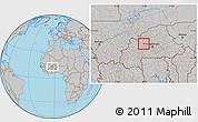 Gray Location Map of Godyr