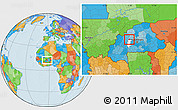 Political Location Map of Godyr, highlighted parent region