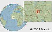 Savanna Style Location Map of Sanguie, hill shading