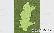 Physical Map of Sanguie, darken