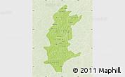 Physical Map of Sanguie, lighten