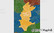 Political Shades Map of Sanguie, darken