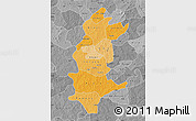 Political Shades Map of Sanguie, desaturated