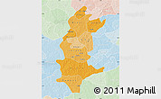 Political Shades Map of Sanguie, lighten
