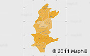 Political Shades Map of Sanguie, single color outside