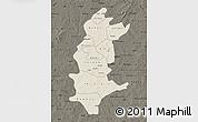 Shaded Relief Map of Sanguie, darken