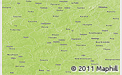 Physical Panoramic Map of Sanguie