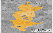 Political Shades Panoramic Map of Sanguie, desaturated