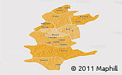 Political Shades Panoramic Map of Sanguie, single color outside
