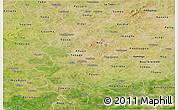 Satellite Panoramic Map of Sanguie