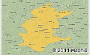 Savanna Style Panoramic Map of Sanguie