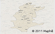 Shaded Relief Panoramic Map of Sanguie, lighten