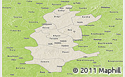 Shaded Relief Panoramic Map of Sanguie, physical outside