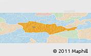 Political Panoramic Map of Pouni, lighten