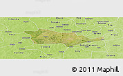 Satellite Panoramic Map of Pouni, physical outside
