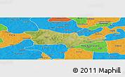 Satellite Panoramic Map of Pouni, political outside